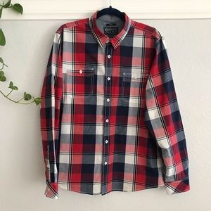 American Rag Button Down Checkered Plaid